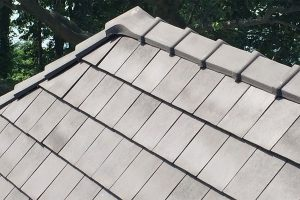 tile replacement roofing on a house