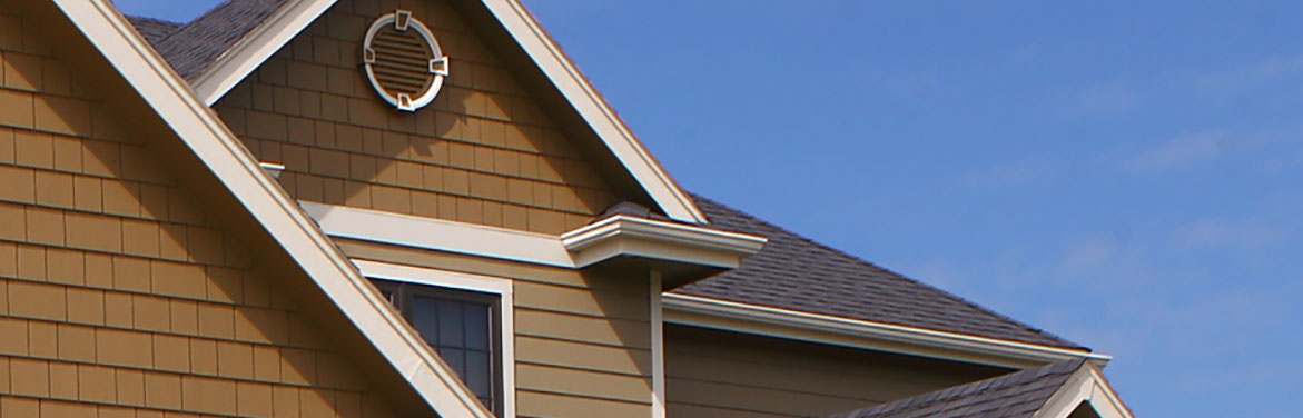shingled gable roof installed by Des Moines IA residential roofing contractor